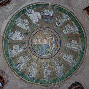 Mosaics in the dome of the Baptistry of the Arians, 5th century by Unknown
