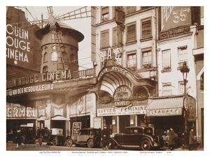 Moulin Rouge Theatre and Cin� - Paris, France by Unknown