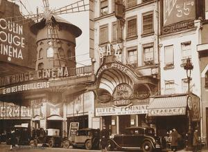 Moulin Rouge Theatre and Cin? - Paris, France by Unknown