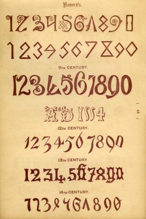 'Numerals', 1862 by Unknown