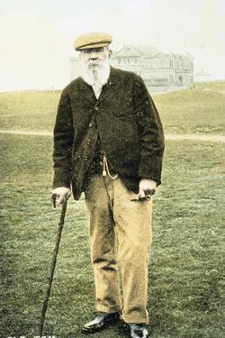 Old Tom Morris, Scottish golfer, postcard, 1900 by Unknown
