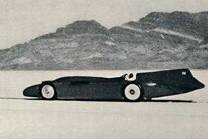 'Over 300 miles an hour on the Salt Flats, Bonneville, Utah', 1937 by Unknown