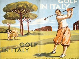 Pamphlet advertising golf in Italy, 1932 by Unknown