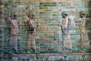 Persian relief of archers of the Persian Royal Guard. Artist: Unknown by Unknown