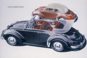 Poster advertising a Volkswagen Convertible, 1959 by Unknown