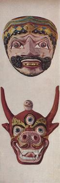 'Primitive Cultures in Ritual and Festival Masks - Festival mask and Cow-face mask ', c1935 by Unknown