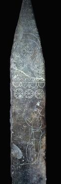 Punic stela of a priest holding a child by Unknown