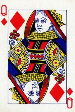 Queen of Diamonds from a deck of Goodall & Son Ltd. playing cards, c1940 by Unknown
