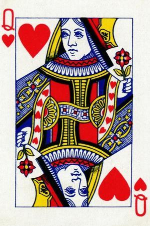 Queen of Hearts from a deck of Goodall & Son Ltd. playing cards, c1940