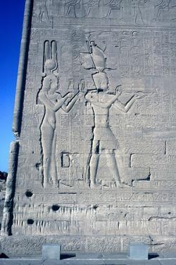 Relief of Cleopatra and Caesarion, Temple of Hathor, Dendera, Egypt, c125 BC-c60 AD by Unknown