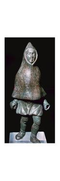 Roman bronze figure of a man wearing a cloak, 4th century by Unknown