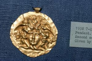 Roman Jewellery Gold Pendant, Head of Gorgon, 2nd century by Unknown