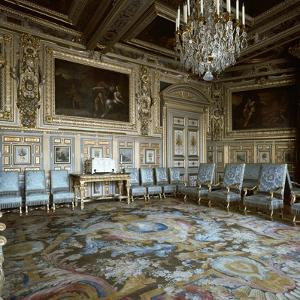 Salon of Louis XIII in Fontainebleau, 17th century by Unknown