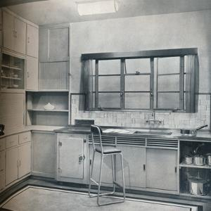 Section of a small kitchen, designed by Mrs Darcy Braddell, 1935 by Unknown