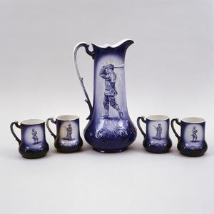 Set of beer mugs, c1900 by Unknown