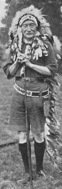 'Sir Robert Baden-Powell, arrayed in the dress of a Red Indian tribe', c1925 by Unknown