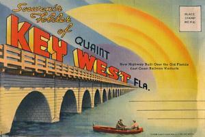 'Souvenir Folder of Quaint Key West Fla. - New Highway', c1940s by Unknown