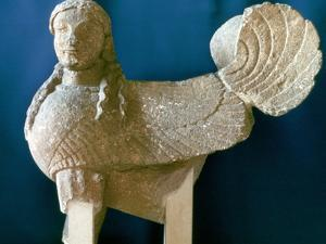 Sphinx from Cyprus, 6th century BC. Artist: Unknown by Unknown