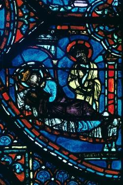 St James appears to Charlemagne in a dream, stained glass, Chartres Cathedral, France, c1225 by Unknown