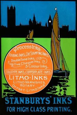'Stanburys' Inks for High Class Printing, 1917 by Unknown