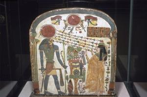 Stele with Ra as Hawk, Sun symbol and Eyes, on Stele of Lady Taperet, c850BC-690 BC by Unknown