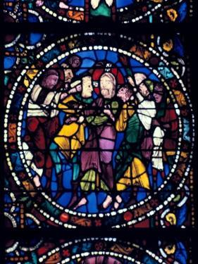 The Arrest of Christ (Kiss of Judas), stained glass, Chartres Cathedral, 1194-1260. Artist: Unknown by Unknown