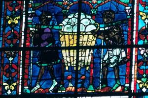 The Bakers, stained glass, Chartres Cathedral, France, 1194-1260. Artist: Unknown by Unknown