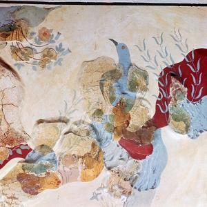 The 'Blue Bird' fresco from Knossos, 17th-14th century BC by Unknown