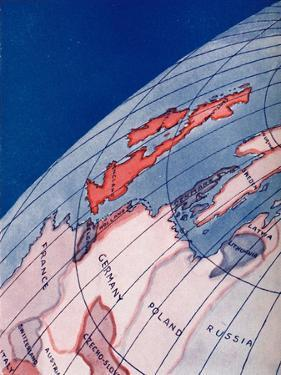 'The British Isles and Northern Europe at 6am on mid-summer day', 1935 by Unknown