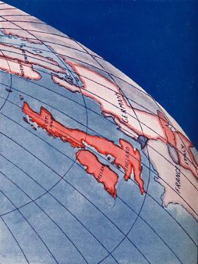 'The British Isles and Northern Europe at 6pm on midsummers day', 1935 by Unknown