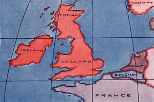 'The British Isles and Northern Europe at Noon in spring or Autumn', 1935 by Unknown