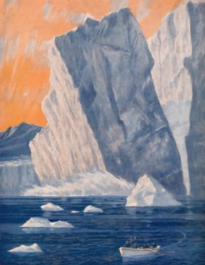 'The Dramatic Birth of a Giant Iceberg', 1935 by Unknown
