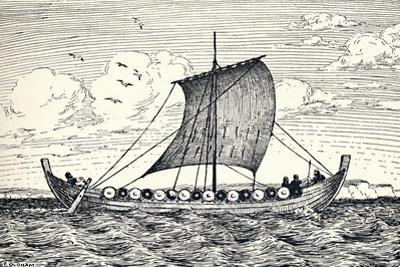'The Gokstad Ship - A reconstruction', 1935 by Unknown