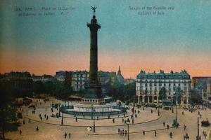 The Place de la Bastille and the July Column, Paris, c1920 by Unknown