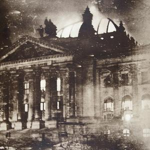 The Reichstag on fire, Berlin, Germany, 27 February 1933 by Unknown