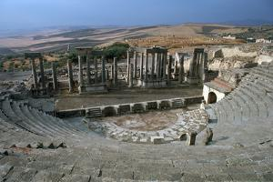 The Roman theatre of Dougga, 2nd century by Unknown