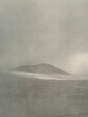 'The Start of a Blizzard...Drift Coming Round Mount Erebus', c1908, (1909) by Unknown