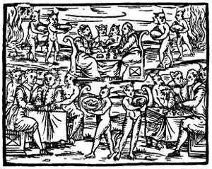 The witches' sabbath, 1608 (19th century) by Unknown