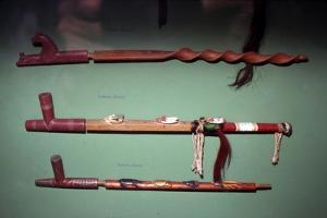 Three Peace-Pipes, Dakota Sioux, North American Indian by Unknown