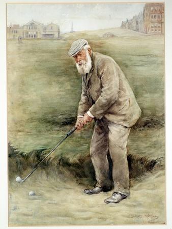 Tom Morris senior, British golfer, portrait, c1910