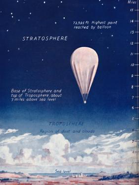 'Travelling 14 Miles Up In The Stratosphere', 1935 by Unknown