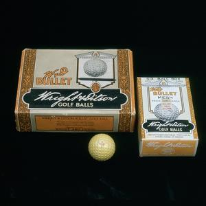W and D Bullet Mesh, Wright and Didson boxes of golf balls, c1900 by Unknown