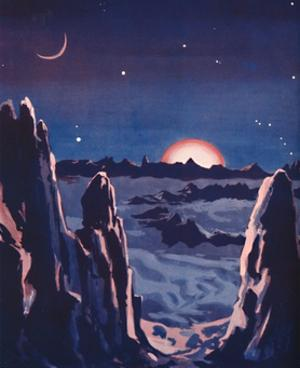 'What Sunrise on the Moon Must Be Like', 1935 by Unknown