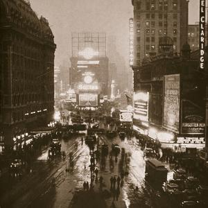 Winter evening on Times Square and Broadway, New York, USA, early 1930s by Unknown