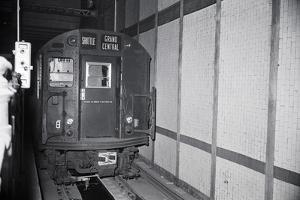 Unmanned Subway Train in Tunnel