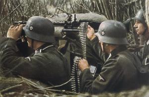 German Machine-Gun Crew Ready and Waiting by Unsere Wehrmacht