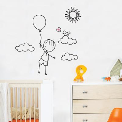 Up, Up Away Wall Decal