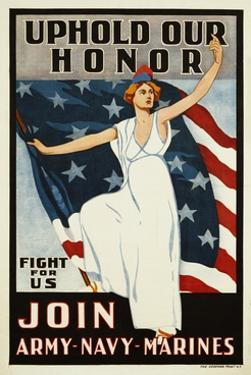 Uphold Our Honor, Join Army-Navy-Marines Poster