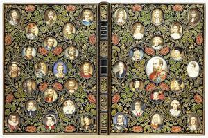 Upper and Lower Covers with 39 Miniature Portraits