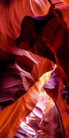 Upper Antelope Canyon Rock Formations, Page, Arizona, USA